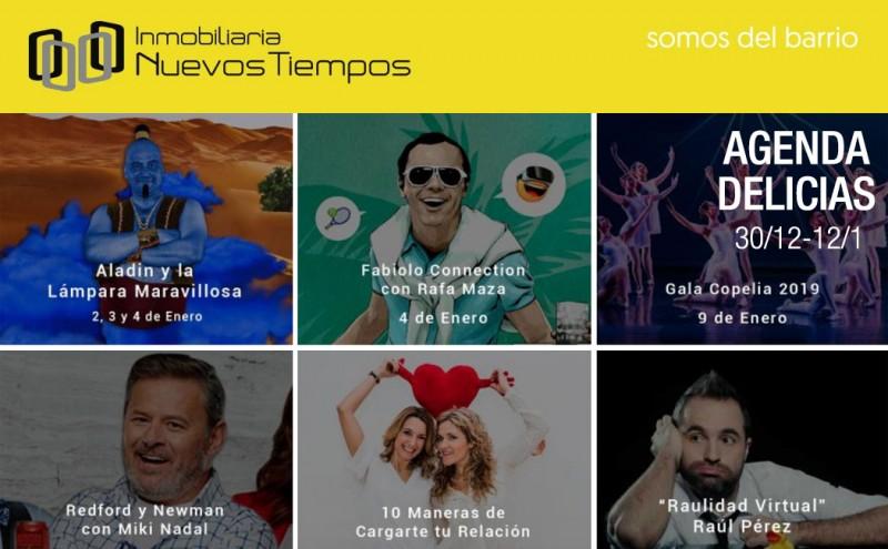 Agenda Delicias, teatro barrio Delicias, música barrio Delicias, InuevosTiempos,