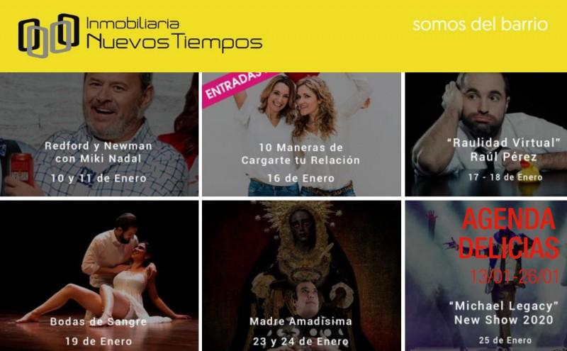 Agenda Delicias, teatro barrio Delicias, música barrio Delicias, InuevosTiempos