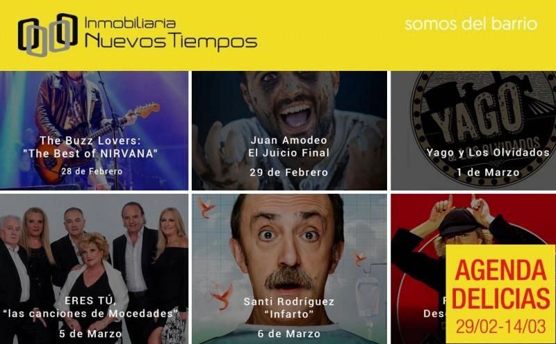 Agenda Delicias, teatro barrio Delicias, m�sica barrio Delicias, InuevosTiempos
