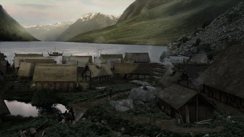 localización de vikingos, casas de vikingos, localización de kattegat