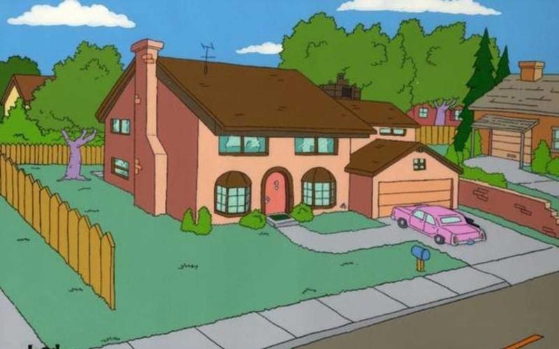 los simpsons, la casa de los simpsons